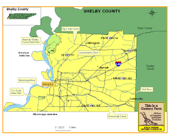 Tennesse Map Shelby County Tennessee Century Farms