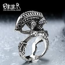 steel skull rings images Beier 316l stainless steel skull ring alien predator finger rings jpeg