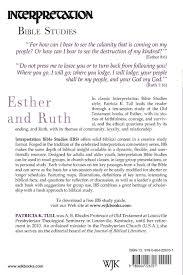 esther and ruth interpretation bible studies patricia k tull