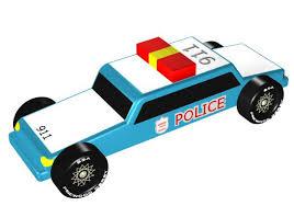 pinewood derby police car design plan