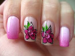 nail designs with pink flowers white pink flowers nail art trendy