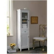 Bathroom Cabinet With Laundry Bin by Bathroom Linen Tower Foter