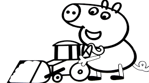 peppa pig coloring book pages for children colorear kids fun art