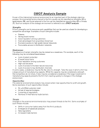 6 sample swot analysis sales report template