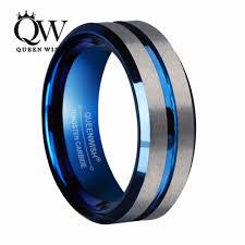mens infinity wedding band queenwish 8mm mens tungsten wedding bands silvering brushed matte