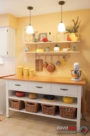 free standing kitchen counter open shelving hanging bar for pans kitchen counter island for