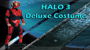 halo 3 deluxe red spartan costume review youtube