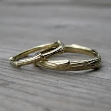 wedding band set twig branch wedding band set kristin coffin jewelry