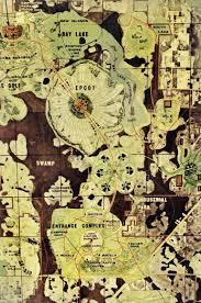 Epcot Orlando Map by Master Plan The Original E P C O T