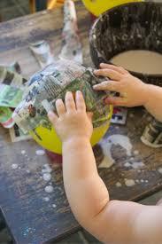 mermaid paper mache bowls sensory craft for kids