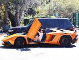 lamborghini urus doors open kylie jenner flaunts her new lamborghini aventador sv roadster