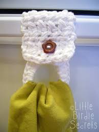 pattern crochet towel holder crocheted towel holder pattern little birdie secrets
