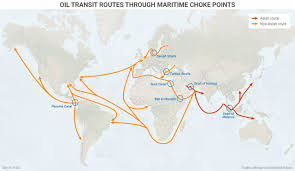 Qatar Route Map by Major Choke Points In The Persian Gulf And East Asia