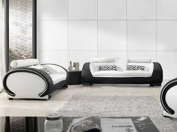 Luxury Leather Sofa Set Living Room Black And White Leather Sofa Black And White Bonded