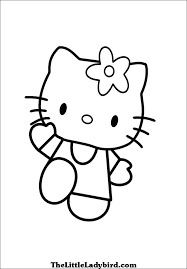 free hello kitty coloring pages thelittleladybird com