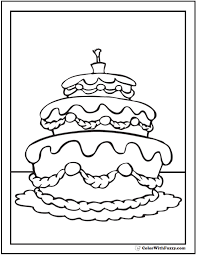 20 cake coloring pages customize pdf printables