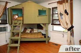 Make Your Own Wooden Bunk Bed by Tree House Bunk Beds For Kids Homesfeed