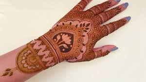 royal lotus bridal henna tattoo design beautiful and simple