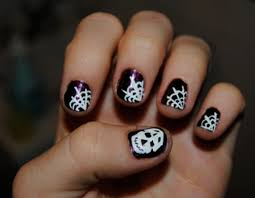 diy halloween nail art here are five easy spooky designs with
