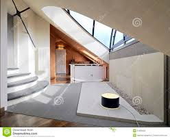 landing in the attic room with skylight stock photo image 51269425