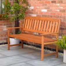 3 seater hardwood garden bench outdoor patio wood furniture weather
