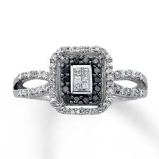 white diamonds rings images Black white diamond rings wedding promise diamond engagement jpg