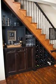 tv and storage could work under stairs house stuff pinterest