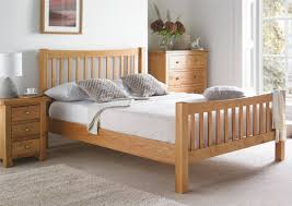 Wooden Bed Frame Double by Dorset Oak Bed Frame Light Wood Wooden Beds Beds All