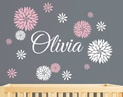 Personalized Wall Decals For Nursery Baby Wall Decal Etsy