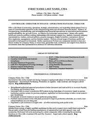 Cma Resume Sample by Controller Resume Sample Jennywashere Com