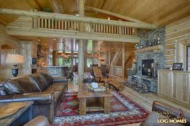 open concept log cabin floor plans