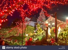 new york usa 24th dec 2015 people watch the christmas lights
