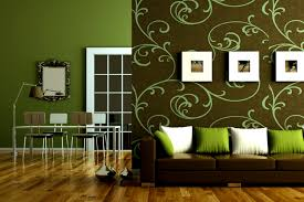 brown and lime green living room 7177
