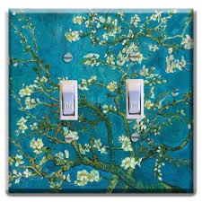 light almond switch plate covers van gogh almond blossoms light switch plate cover home decor van