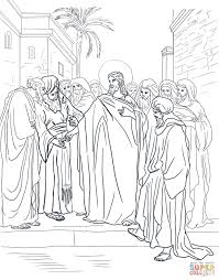 jesus and the 12 disciples coloring page creativemove me