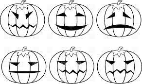outlines of halloween pumpkins vector image 33912 u2013 rfclipart