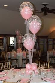 Elegant Balloon Centerpieces by Floating Heart Inside Large Hanging Heart Valentine Ideas