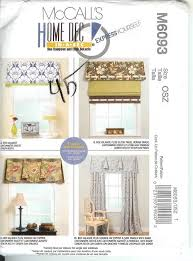 Valances Window Treatments Patterns Oop Mccalls Sewing Pattern Window Treatment Curtains Toppers