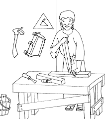 carpenter coloring pages printable images kids aim