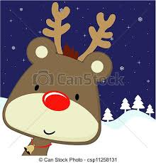 vectors of rudolph greeting card christmas cute baby deer with