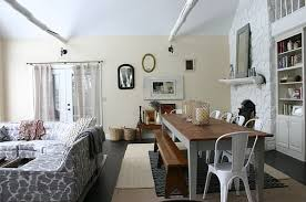 Dinning Rooms  Cottage Dining Room With Wooden Dining Table And - Vintage dining room ideas