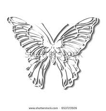 silhouette butterfly shadow vector illustration stock vector