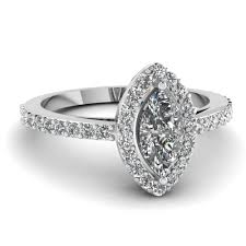 marquise halo engagement ring white gold marquise white engagement wedding ring in pave