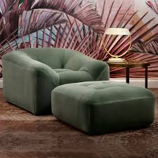 modern armchair with ottoman high end modern armchair and pouffe set juliettes interiors
