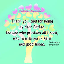 thank you god for your blessings thanksgiving prayer
