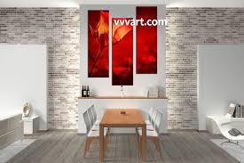 home decor red 3 piece home decor red rose canvas pictures