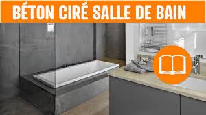 fabriquer meuble salle de bain beton cellulaire déco béton ciré salle de bain sol mur design youtube