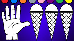hand and ice cream coloring page learn colors for kids youtube
