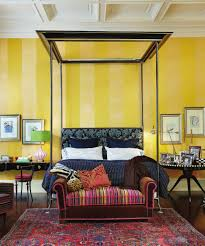 Bedroom With Bright Yellow Walls Home Decor Wall Paint Color Combination Bedroom Ideas For Interior