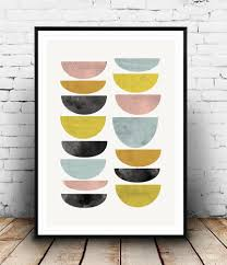 Abstract Home Decor Mid Century Abstract Art Colorful Minimalist Print Home Decor